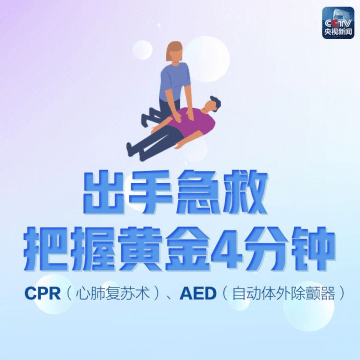 图解心肺复苏和AED使用